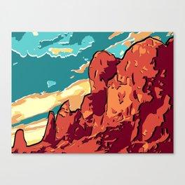 Superstition Mountains Canvas Print