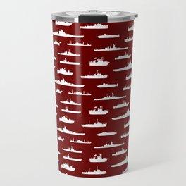Battleship // Maroon Travel Mug