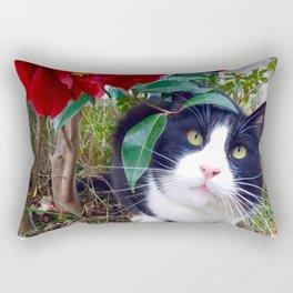 Orazio, the cat of camellias Rectangular Pillow