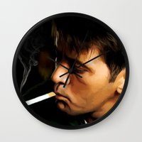 apocalypse now Wall Clocks featuring Apocalypse Now Painting #1 by Gabriel T Toro
