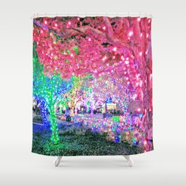 All Lit Up! (Photo by Valeen Etterlein) Shower Curtain