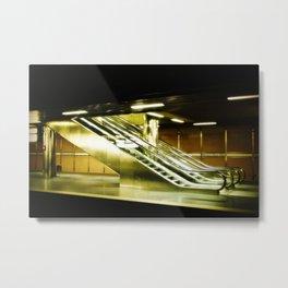 Escalator Metal Print