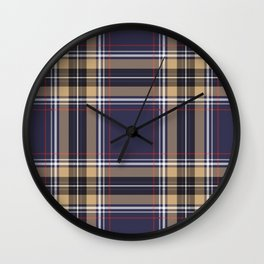 Tartan Seamless Pattern - A funny gift for someone who loves Outlander,  Scotland, Scottish Clan Tartan and Celtic music Wall Clock