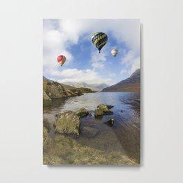 Lake Flight Metal Print