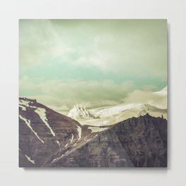 Cloudy Mountains III Metal Print