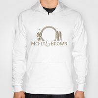mcfly Hoodies featuring McFly & Brown Blacksmiths by Doodle Dojo