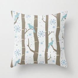 Winter Times Throw Pillow