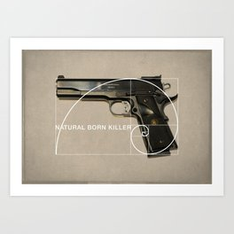 Natural Born Killer Art Print