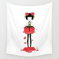 rose Wall Tapestries featuring Rose by Freeminds