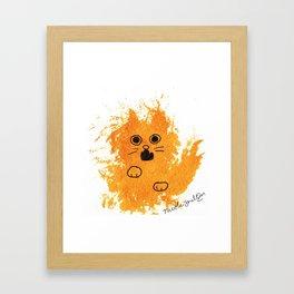 Ginger Cat Yowl Framed Art Print