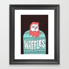 Mister Waffles Framed Art Print