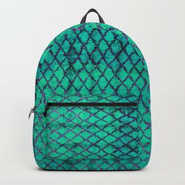 -A4- Stylish Green Traditional Moroccan Carpet Texture. Backpack