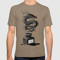 Ink Dragon SMALL Mens Fitted Tee Tri-Coffee