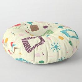 Atomic pattern Floor Pillow