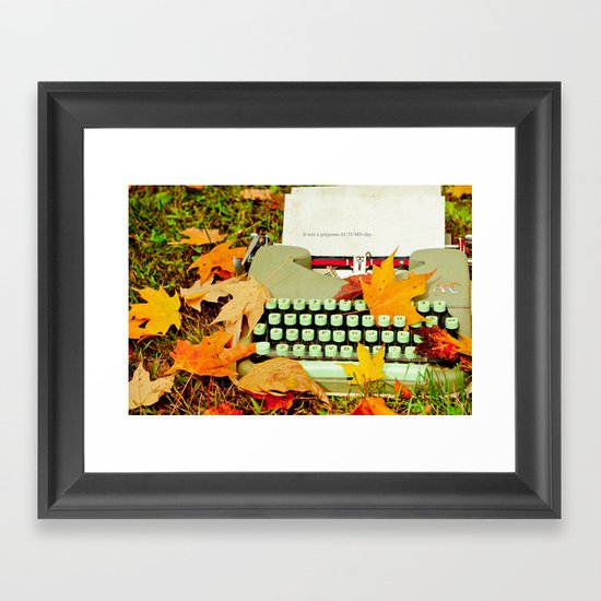 It Was a Gorgeous Autumn Day Framed Art Print