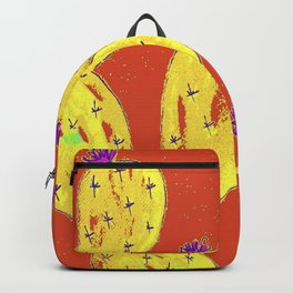 Orange cacti garden Backpack