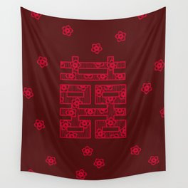 Shuang-Xi / Double Happiness Symbol Wall Tapestry