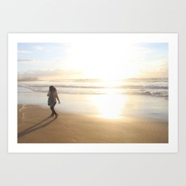 First Stepping Out onto the Beach ; Washed in White Light  Art Print