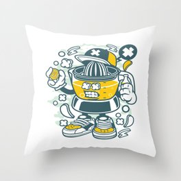 Orange Squeezerfor animated characters comics and pop culture lovers Throw Pillow