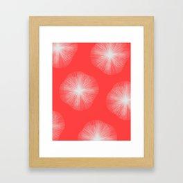 Coral Bust Framed Art Print