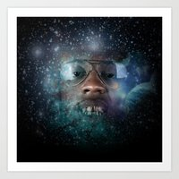 Intergalactic Gold Everything  Art Print