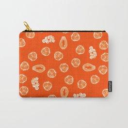 Kiwano, Papaya & Gooseberry [Orange] • Mandala Carry-All Pouch