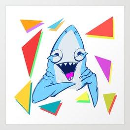 Funny SHARK Art Print