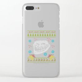 Trolls Christmas Ugly Sweater Design Shirt Clear iPhone Case