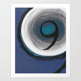 Sapphire Nine Art Print