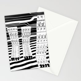 Black and White Lion Feet Stationery Cards