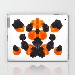 Orange & Black Inkblot Diagram Laptop & iPad Skin