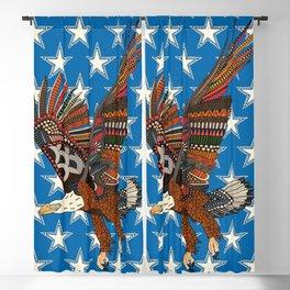 USA eagle blue Blackout Curtain