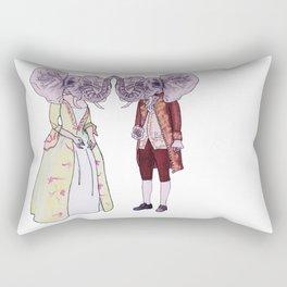 Madame and Monsieur Elephant Rectangular Pillow