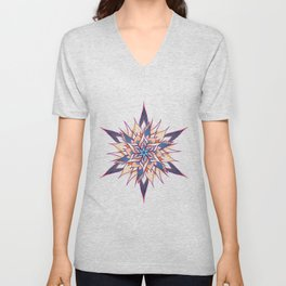 Magic flower mandala Unisex V-Neck