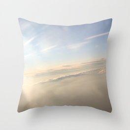 floating on the sky Throw Pillow