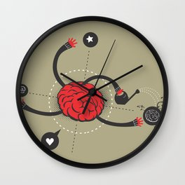macro work Wall Clock