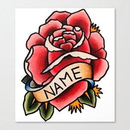Name Rose Canvas Print