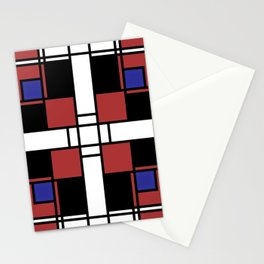 Neoplasticism symmetrical pattern in Well Read (red) Stationery Cards