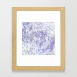 Flower Bouquet In Pastel Blue Color - #society6 #buyart Framed Art Print