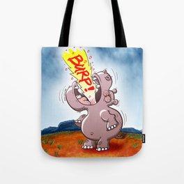 Hippopotamus Burping Loudly Tote Bag