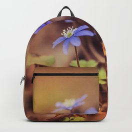 Magic garden with blue liverworts Backpack