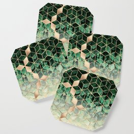 Leaves And Cubes Coaster