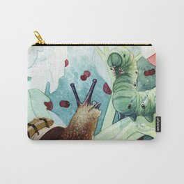 The little snail and the Caterpillar Carry-All Pouch