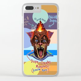 Dope Creates Monsters Uncut Clear iPhone Case