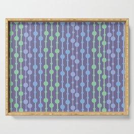 Beaded Curtain Jewel Tones Serving Tray
