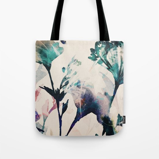 Watercolor Flowers on canvas Tote Bag