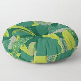 Green Landscape Floor Pillow