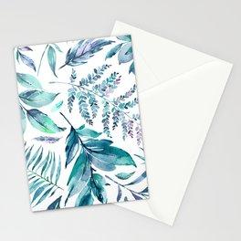 Teal manic botanic Stationery Cards