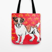 jack russell Tote Bags featuring Jack Russell by Mandarin Duck Craft