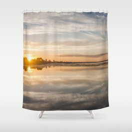 Baltic sea and sunset Shower Curtain